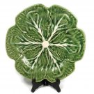 "Bordallo Pinheiro Cabbage Green Dinner Plate 12"" 1Pc Made in Portugal"