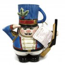 Fitz and Floyd Essenstials Nutcracker Soldier Snack Therapy Bear Teapot/Cup
