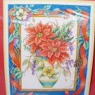 Bobbie G Designs Winter Bouquet Poinsettia Counted Cross Stitch 104 NEW