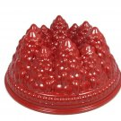 Nordicware Pine Bundt Forest Pan Heavy Cast Aluminum 9 Cup Capacity Red NEW