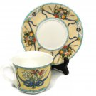 Villeroy & Boch Citta & Campagna Cup and Saucer Set Fruit Floral Bouquet