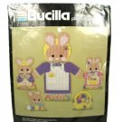 Bucilla Mrs Bunny Easter Family Wall Decor Set of 6 Plastic Canvas Kit 6015 NEW