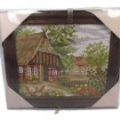 Gobelin Wolle Rodel Ideal Gift Village Scene Photo Handicraft Kit Wood Frame 00500