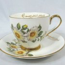 Taylor & Kent Tea Cup and Saucer Set White Floral Roses Fine China