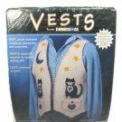 Dimensions Black Cat Applique Country Kitten Vest Sewing Kit Size S-XXL