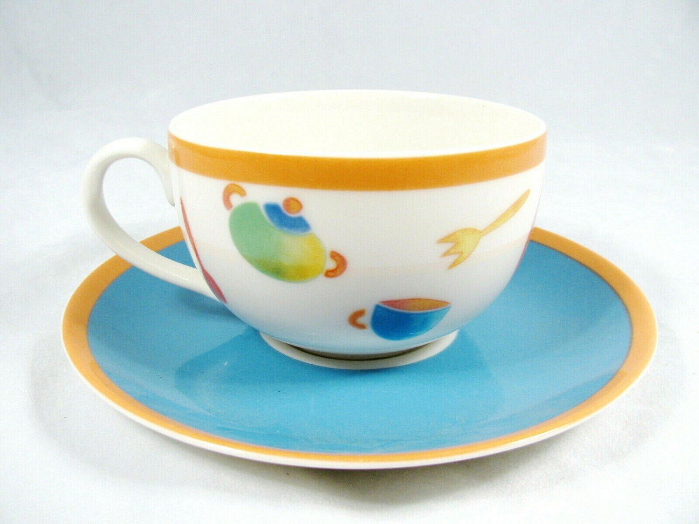 Villeroy & Boch Desco Citta & Campagna Porcelain Cup and Saucer Set