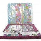 Colorbok Scrapbook Album Kit Wild Lilacs 12x12 140 Stickers-60 Die Cuts-6 Accent