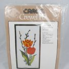 "Carron Crewel Embroidery Kit Tulips and Pussywillows 10"" x 20"" 6358"