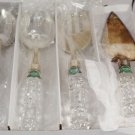 Shannon Crystal by Godinger Versailles 4 Piece Crystal Handled Serving Set