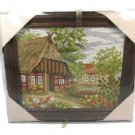 Gobelin Wolle Rodel Ideal Gift Village Scene Photo Handicraft Kit Wood Frame