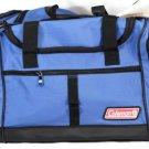 "Coleman Blue Travel Gym Deluxe Duffle Bag Shoulder Strap Rugged Polyester  20"""