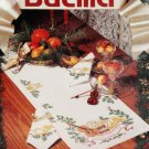 Bucilla Christmas Music Table Runner & 8 Napkin Autumn Stamped Cross Stitch Kit