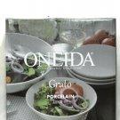 Oneida Grato Porcelain 5 Piece Set 1 Serving Bowl 4 Soup/Cereal Bowls