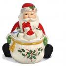 Lenox Holiday Fine China Santa Covered Candy Dish 5 inches