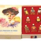 Charles V Perfumers Les Parfums De Paris Box Lot of 8 Mini Bottle Collection