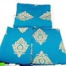 Westwide 3 Piece 1 Bedspread & 2 Shams Navy Blue Gustava 100% Cotton