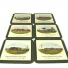 Set of 6 Pimpernel Famous British Golf Clubs Cork Backed Coasters