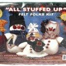 What's New All Stuffed Up Felt Folks Kit Snowman Family Papa Mama Baby 61102
