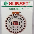 Sunset Stitchery Lord Rest Thy Hand Upon This Door Christmas Blessing 2105
