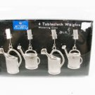 HD Designs Outdoors Stainless Grilling Tablecloth Weights Watering Cans 4 Pcs