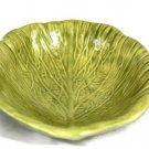 """Holland Yellow Green Cabbage Lettuce Leaf Mold Bowl Dish 6 3/4"""""""