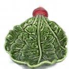"Olfaire Ceramic Green Radish Serving Shallow Bowl Dish 10"" Long"