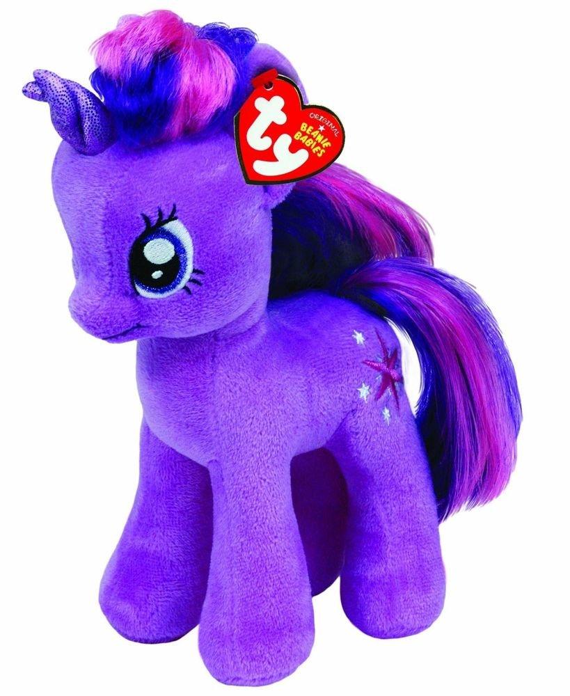 My Little Pony Ty Beanie Baby Twilight Sparkle (w/FREE NEON PONY BLIND BAG!)