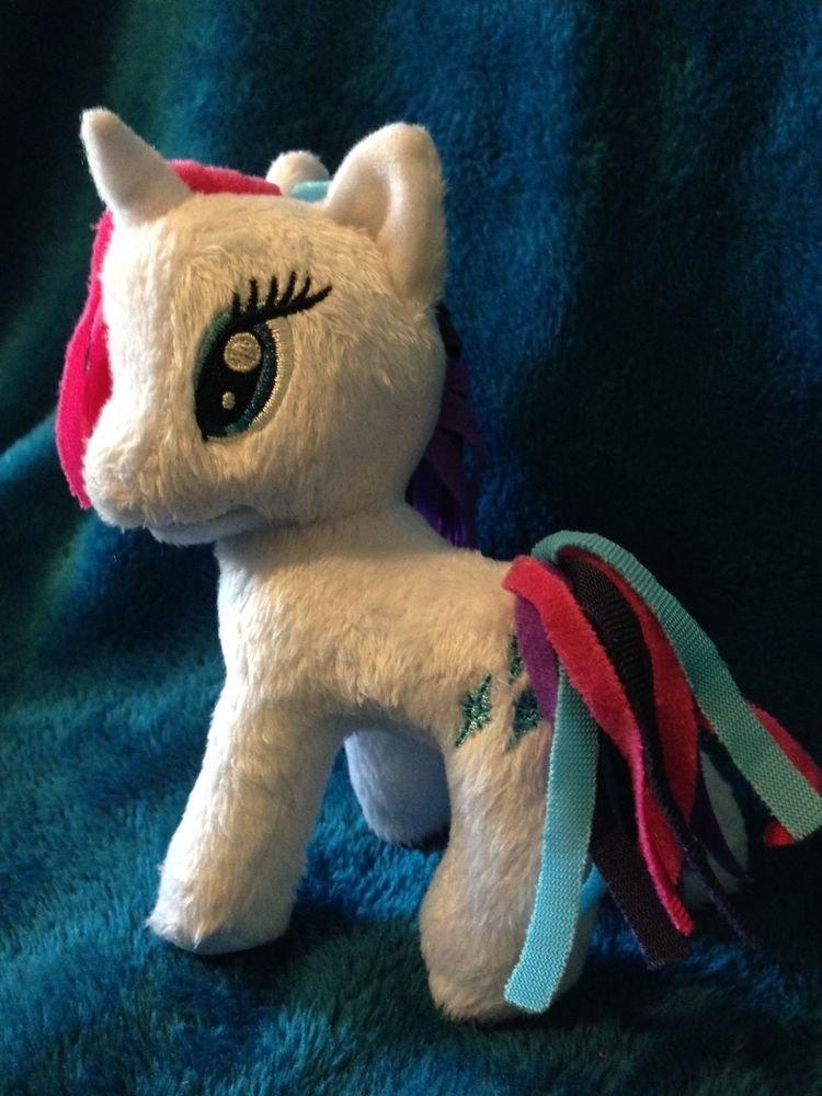"My Little Pony Funrise Plush Rarity (Rainbowfied) 5"" w/FREE PONY BLIND BAG"
