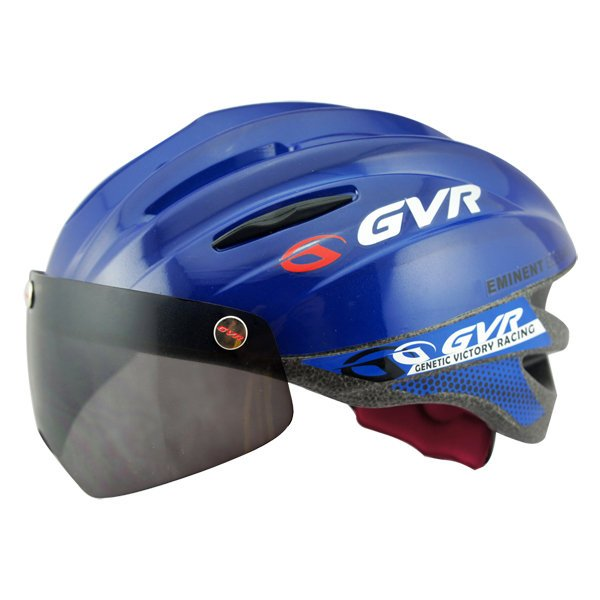 GVR Cycling Helmet G-203V With Magnetic Visor Solid - Blue  Free Shipping !