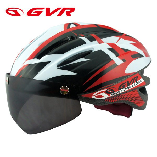 GVR Cycling Helmet G-203V With Magnetic Visor Jump - Red  Free Shipping !