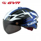 GVR Cycling Helmet G-203V With Magnetic Visor Jump - Blue  Free Shipping !