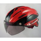 GVR Cycling Helmet G-203V With Magnetic Visor illusion - Red Free Shipping !