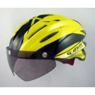 GVR Cycling Helmet G-203V With Magnetic Visor illusion - Yellow  Free Shipping !