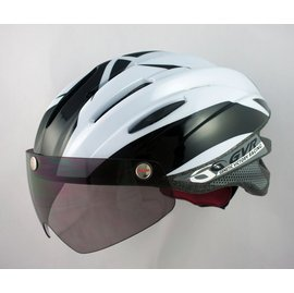 GVR Cycling Helmet G-203V With Magnetic Visor illusion - White Free Shipping !