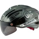 GVR Cycling Helmet G-203V With Magnetic Visor Bubble - White  Free Shipping !