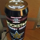 "Rockstar Energy Drink Can motion light bar sign about 12"" tall by 5"" diameter"