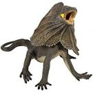 FRILLED LIZARD 2005 SAFARI LTD AUSTRALIAN REPTILE CHINA ALL RUBBER TOY