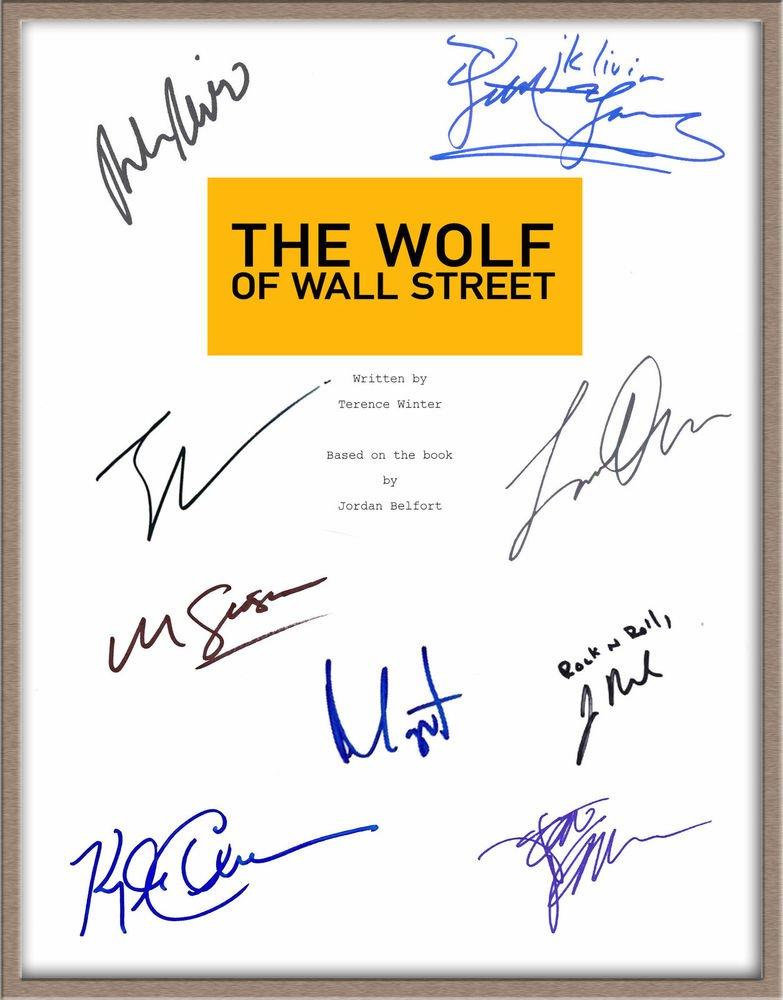 LEONARDO DICAPRIO MARTIN SCORSESE SIGNED X9 THE WOLF OF WALL STREET SCRIPT RPT
