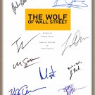 LEONARDO DICAPRIO MARTIN SCORSESE SIGNED X9 THE WOLF OF WALL STREET SCRIPT RPT