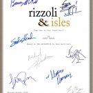 ANGIE HARMON LEE THOMPSON YOUNG SIGNED X8 RIZZOLI & ISLES TV SCRIPT RPT + BONUS!