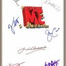 "STEVE CARELL JASON SEGEL MIRANDA COSGROVE SIGNED X7 ""DESPICABLE ME"" SCRIPT RPT"