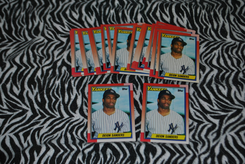 1990 topps deion sanders rookie card lot