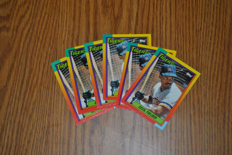 1990 topps traded cecil fielder lot