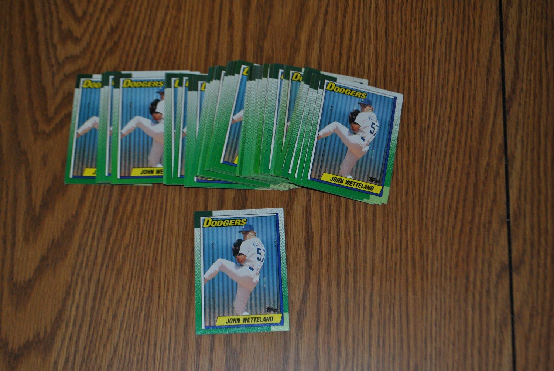 1990 topps john wetteland rookie card lot.