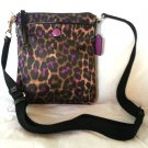 COACH Ocelot Print Swingpack Shoulder Bag/Crossbody Bag in Violet-NWT-SRP: $148