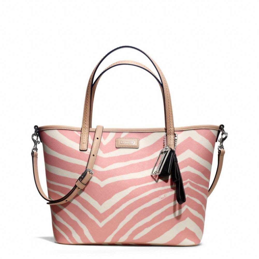 Coach Handbag Park Metro Zebra Small Tote/Shoulder Bag Pink Tulle-NWT-RP: $268
