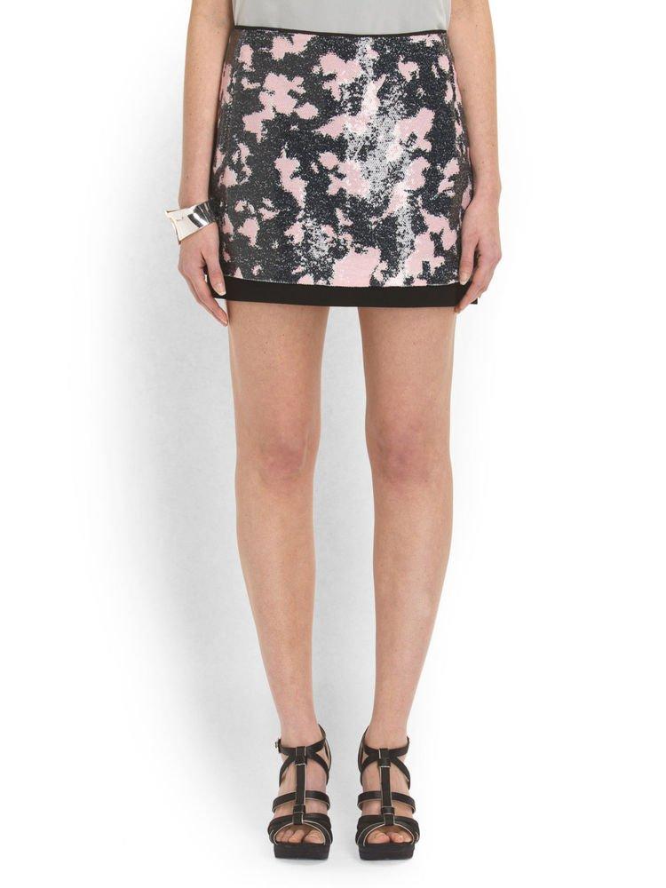 Diane von Furstenberg Dress - Sequined Elley Printed Mini Skirt-NWT-RP: $385