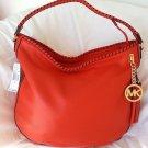 Michael Kors Leather Bennet Large Hobo Shoulder Bag in Mandarin-NWT-SRP:$348