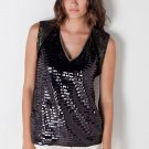 Sachin & Babi Sequined Lulu Top in Onyx-Size 8, 10-NWT-RP: $298
