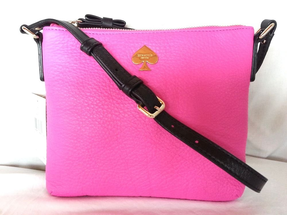 Kate Spade New York Leather Leroy Street Tenley Crossbody Bag Pink  NWT: RP:$178